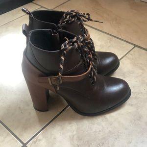 High heel booties.